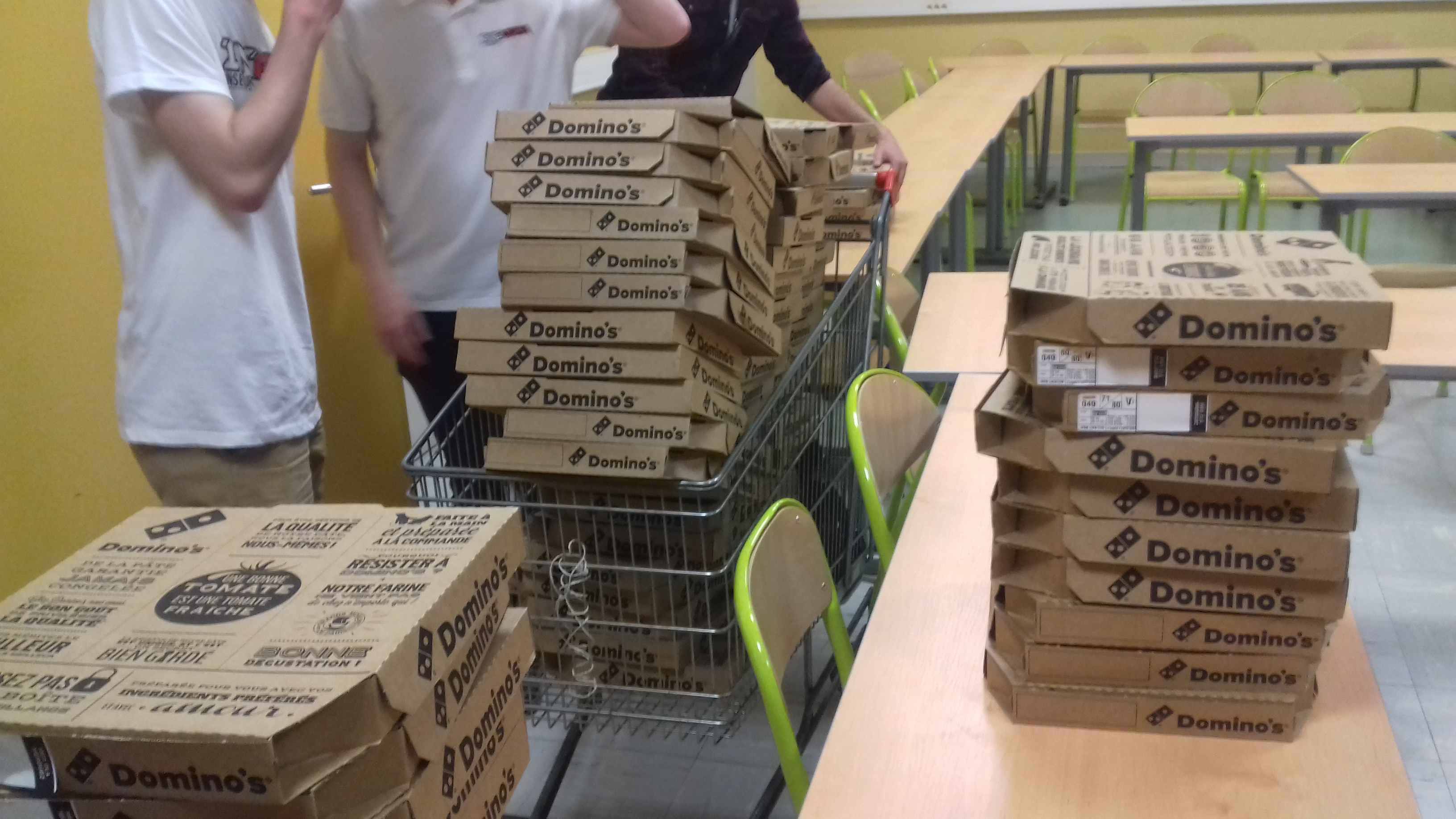 yes, that's 80 pizzas